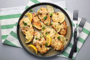 what to eat with chicken piccata