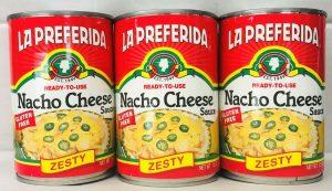 La Preferida best canned nacho cheese sauce gluten free